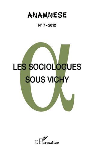Couverture Les sociologues sous Vichy