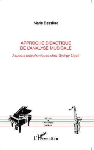 Couverture Approche didactique de l'analyse musicale
