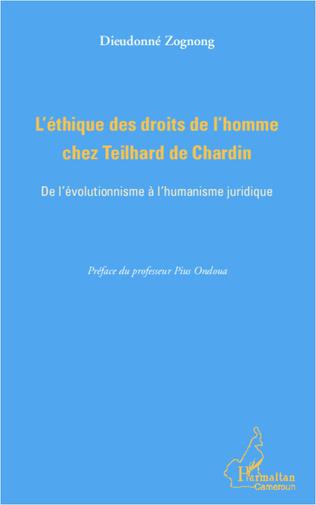Couverture L'éthique des droits de l'homme chez Teilhard de Chardin