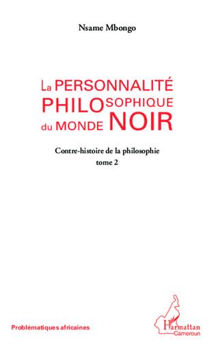 Couverture La personnalité philosophique du monde noir