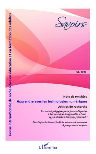 Couverture Apprendre avec les technologies numériques