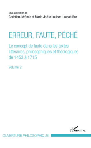 Couverture Erreur, faute, péché (Volume 2)