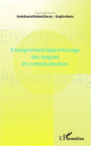Couverture Enseignement/apprentissage des langues et contextualisation