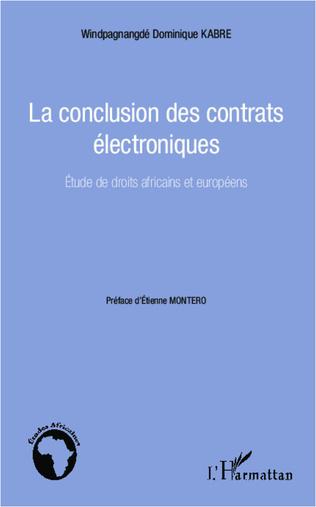 Couverture La conclusion des contrats électroniques