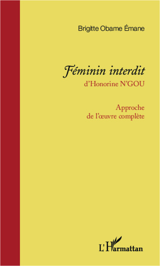 Couverture <em>Féminin interdit </em>d'Honorine N'Gou