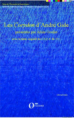 Couverture Les'Corydon' d'André Gide