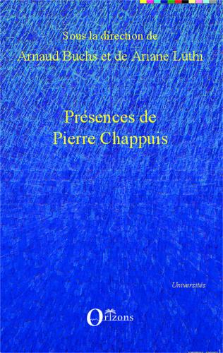 Couverture Présences de Pierre Chappuis