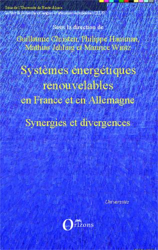Couverture Systèmes énergétiques renouvelables en France et en Allemagne