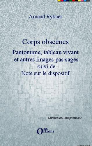Couverture Corps obscènes