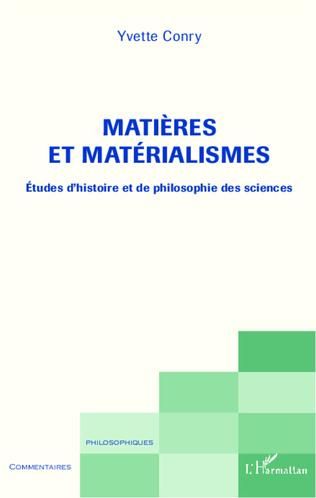 Couverture Matières et matérialismes