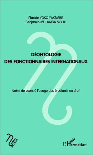 Couverture Déontologie des fonctionnaires internationaux