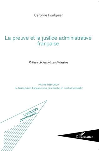 Couverture La preuve et la justice administrative française