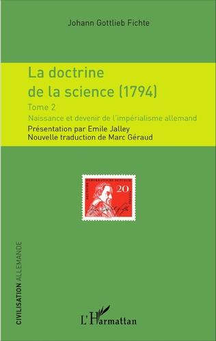 Couverture La doctrine de la science (1794)