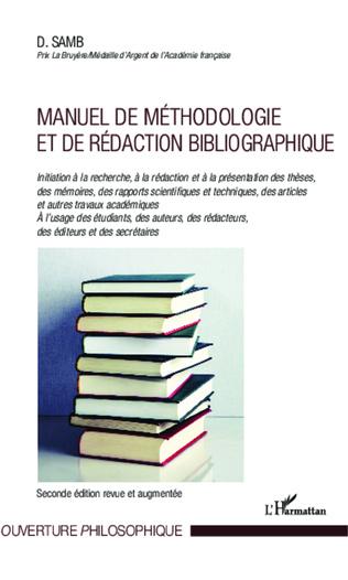 Couverture Manuel de méthodologie et de rédaction bibliographique