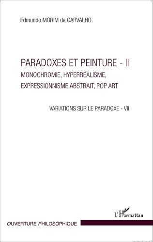 Couverture Paradoxes et peintures - II