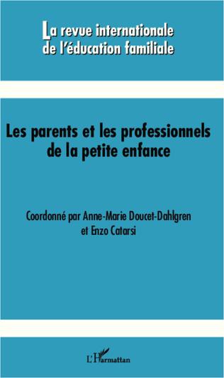 Couverture Les parents et les professionnels de la petite enfance