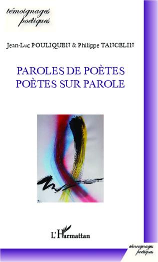 Couverture Paroles de poètes, poètes sur parole