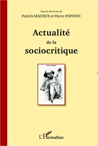 Couverture Actualité de la sociocritique