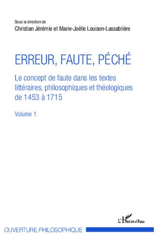 Couverture Erreur, faute, péché (Volume 1)