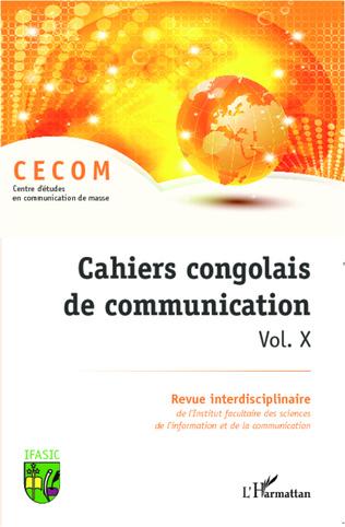 Couverture Cahiers congolais de communication (Vol. X)