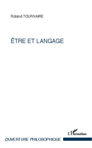 Couverture Etre et langage