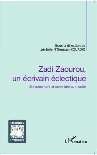 Couverture Zadi Zaourou, un écrivain éclectique