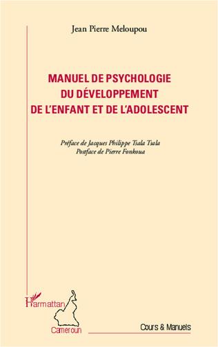 Couverture Manuel de psychologie du développement de l'enfant et de l'adolescent