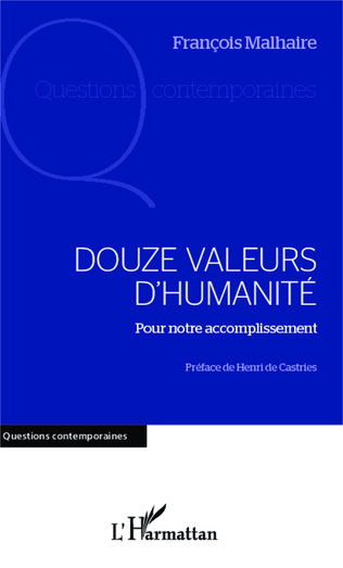 Couverture Douze valeurs d'humanité