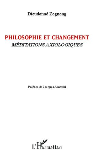 Couverture Philosophie et changement