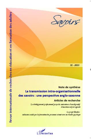 Couverture La transmission intra-organisationnelle des savoirs : une perspective anglo-saxonne
