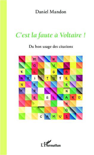 Couverture C'est la faute à Voltaire !