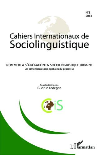 Couverture Nommer la ségrégation en sociolinguistique urbaine
