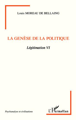 Couverture La genèse de la politique