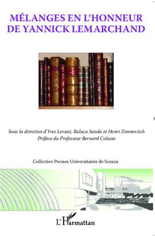 Couverture Mélanges en l'honneur de Yannick Lemarchand