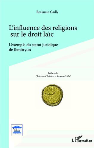 Couverture L'influence des religions sur le droit laïc