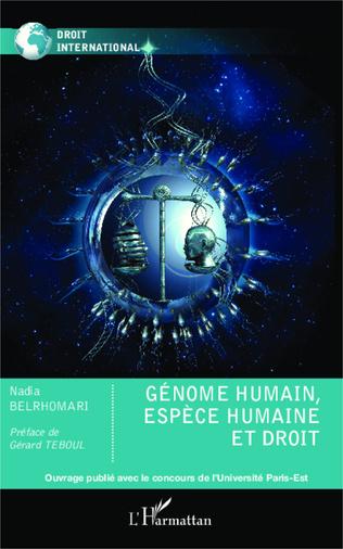 Couverture Génome humain, espèce humaine et droit