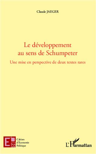 Couverture Le développement au sens de Schumpeter