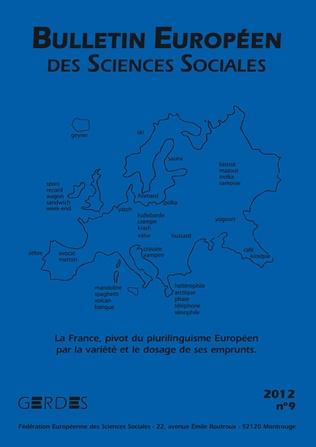Couverture Bulletin européen des sciences sociales N° 9