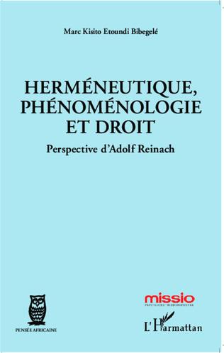 Couverture Herméneutique, phénoménologie et droit
