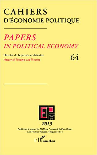 Couverture Cahiers d'économie politique N°64