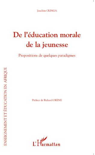 Couverture De l'éducation morale de la jeunesse