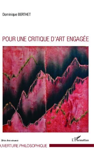 Couverture Pour une critique d'art engagée