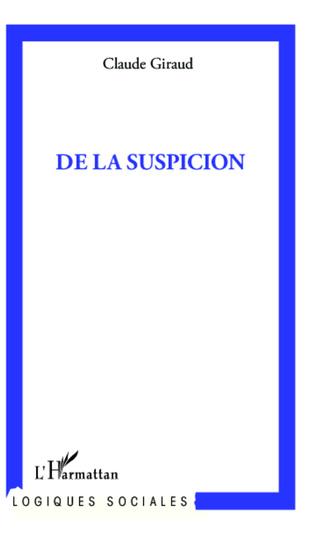 Couverture De la suspicion