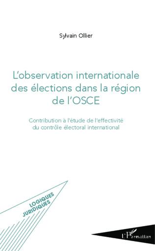Couverture L'observation internationale des élections dans la région de l'OSCE