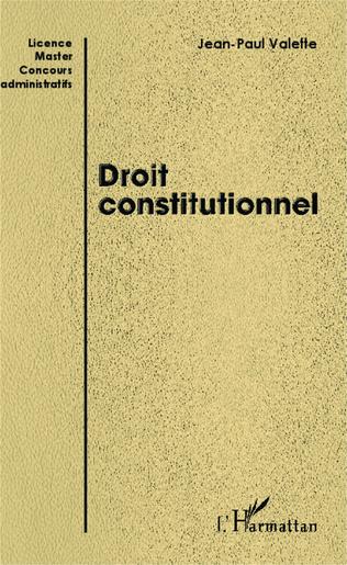 Couverture Droit constitutionnel