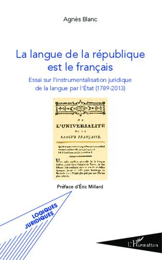 Couverture La langue de la république est le français