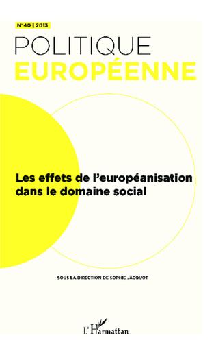 Couverture Les effets de l'européanisation dans le domaine social