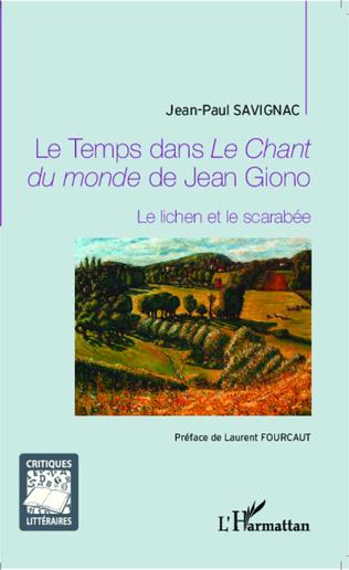 Couverture Le Temps dans<em> Le Chant du monde</em> de Jean Giono