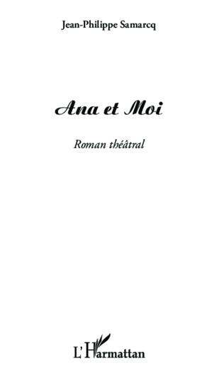 Couverture Ana et Moi