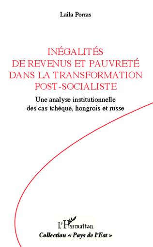 Couverture Inégalités de revenus et pauvreté dans la transformation post-socialiste